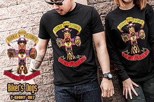 HDP T-SHIRT NO.067 - BIKER'S DOGS